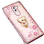 cheap -Case For Huawei Shockproof Rhinestone with Stand Back Cover Cartoon Soft Silicone for Honor 6X