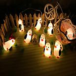Недорогие -10 светодиодов 1,5 м мультфильма пингвина строка свет теплый белый usb питание