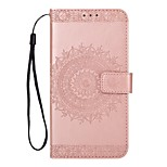 cheap -Case For Huawei Mate 8 Mate 10 Card Holder Wallet with Stand Flip Embossed Full Body Solid Color Hard PU Leather for Mate 10 Huawei Mate 8