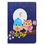 cheap -Case For Apple iPad mini 4 iPad Mini 3/2/1 Card Holder with Stand Flip Pattern Auto Sleep/Wake Up Full Body Cases Owl Hard PU Leather for