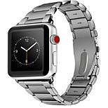 abordables -Ver Banda para Apple Watch Series 3 / 2 / 1 Apple Hebilla Clásica Acero Correa de Muñeca