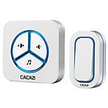 Недорогие -cacazi 9909 беспроводной дверной звонок 48 мелодий музыкальный объем регулируемый us plug руководство пользователя китайский