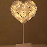 Недорогие -1шт LED Night Light Украшение Аккумуляторы AAA Теплый белый