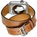 preiswerte -Uhrenarmband für Apple Watch Series 3 / 2 / 1 Apple Klassische Schnalle Echtes Leder Handschlaufe