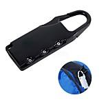 cheap -Mini 3 Digits Resettable Zinc Alloy Combination Lock Password Padlock for Luggage Bag