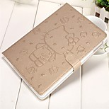cheap -Case For iPad 9.7 (2017) iPad Air 2 iPad mini 4 iPad (2017) Wallet Card Holder with Stand Pattern Auto Sleep/Wake Up Full Body Cartoon