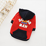 cheap -Dogs Hoodie Dog Clothes Japan and Korea Style Warm Ups Quotes & Sayings Black Red Costume For Pets