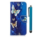 Недорогие -Кейс для Назначение Motorola G5 Plus G5 Бумажник для карт Кошелек со стендом Флип Магнитный Чехол Бабочка Твердый Кожа PU для Moto G5s
