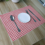 cheap -Ordinary Padded Fabric Square Placemat Table Decorations