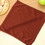 cheap -High Quality 1pc Linen/Cotton Blend Cleaning Brush & Cloth, 27.5*27.5