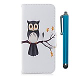 cheap -Case For Sony Xperia XZ Premium Xperia XZ1 Card Holder Wallet with Stand Flip Magnetic Full Body Cases Owl Hard PU Leather for Xperia XZ1