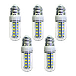 abordables -5pcs 4W 350 lm E26/E27 36 leds SMD 5730 Luces LED Blanco AC 220-240V