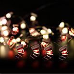 Недорогие -10 светодиодов 1m рождественские носки модель строка свет теплый белый aa батареи питание