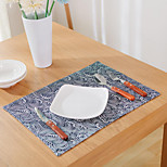 cheap -Graphics Linen&Cotton Blend Square Placemat Table Decorations