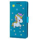 cheap -Case For Sony Xperia XZ Card Holder with Stand Flip Pattern Full Body Cases Unicorn Hard PU Leather for Sony Xperia XZ Sony Xperia XA