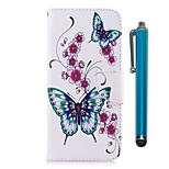 cheap -Case For Sony Xperia XZ Premium Xperia XZ1 Card Holder Wallet with Stand Flip Magnetic Full Body Cases Butterfly Hard PU Leather for