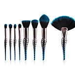 cheap -10-Pack Makeup Brush Set Blush Brush Powder Brush Synthetic Hair Professional Color Gradient Anodized Aluminum Eye Face