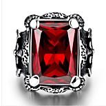Недорогие -Муж. Классические кольца Синтетический рубин Мода Нержавеющая сталь Геометрической формы Бижутерия Подарок Повседневные