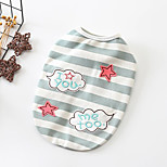 cheap -Dogs Sweatshirt Dog Clothes Casual/Daily Adorable Striped Stars Pink Green Costume For Pets