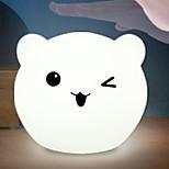 Недорогие -1шт LED Night Light Перезаряжаемый Сенсорный датчик Украшение прикроватный С портом USB Встроенная литий-батарея USB слот 7 Изменение