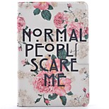 cheap -Case For Apple iPad mini 4 iPad Mini 3/2/1 Card Holder with Stand Pattern Auto Sleep/Wake Up Full Body Cases Flower Hard PU Leather for