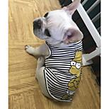 Недорогие -Собаки Жилет Одежда для собак На каждый день В полоску Мультипликация Белый Синий Костюм Для домашних животных
