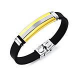 Недорогие -Муж. Браслет цельное кольцо ID браслеты , Cool Мода Нержавеющая сталь В форме линии Бижутерия Повседневные На выход