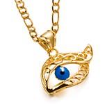 Недорогие -Муж. Жен. Сглаз металлический Мода Ожерелья с подвесками , Позолота Ожерелья с подвесками , День рождения Подарок
