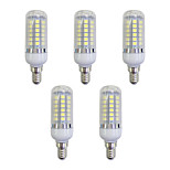 abordables -5pcs 5W 420 lm E12/E14 Bombillas LED de Mazorca 48 leds SMD 5050 Luces LED Blanco AC 220-240V