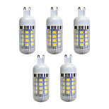 Недорогие -5 шт. 4.5W 380 lm G9 36 светодиоды SMD 5050 Светодиодные фонарики Тёплый белый AC 220-240V