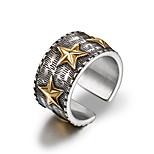 Недорогие -Муж. манжета кольцо Классические кольца , На каждый день Cool нержавеющий Круглый Бижутерия Повседневные Официальные