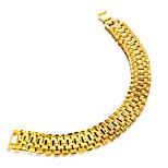 Недорогие -Муж. Браслеты-цепочки и звенья металлический Мода Позолота Бижутерия Для вечеринок Подарок