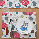 cheap -Graphics Linen/Cotton Blend Square Placemat Table Decorations