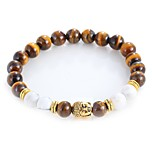 cheap -Men's Women's Strand Bracelet Bracelet Onyx Tiger Eye Stone Vintage Bohemian Fashion Alloy Jewelry Daily Evening Party