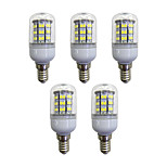 abordables -5pcs 3.5W 280 lm E12/E14 Bombillas LED de Mazorca 60 leds SMD 2835 Luces LED Blanco AC 110-120V