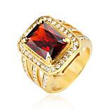 Недорогие -Муж. Массивные кольца Стразы На каждый день Cool Акрил нержавеющий Геометрической формы Бижутерия Для вечеринок