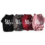 Недорогие -Собаки Толстовка Одежда для собак На каждый день Цитаты и выражения Серый Красный Розовый Черный Костюм Для домашних животных