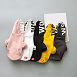 preiswerte -Hunde Kapuzenshirts Hundekleidung Modisch Britisch Zitate & Sprüche Weiß Grau Gelb Rosa Schwarz Kostüm Für Haustiere
