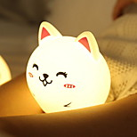 cheap -1pc LED Night Light Warm White Built-in Li-Battery Powered USB Port Stress and Anxiety Relief Rechargeable Touch Sensor Decoration with