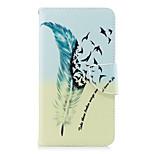 Недорогие -Кейс для Назначение Motorola G5 Plus G5 Кошелек Бумажник для карт со стендом Флип Магнитный Чехол Перья Твердый Кожа PU для Moto G5s