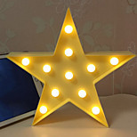 Недорогие -1шт LED Night Light Украшение Аккумуляторы AA Теплый белый