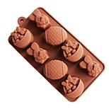 Недорогие -Формы для пирожных Rabbit Креатив конфеты Для Cookie Для торта Печенье Торты силикагель Своими руками Пасха Творческая кухня Гаджет 3D
