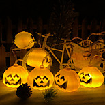 Недорогие -10 светодиодов 1,5-миллиметровой тыквенной струны светлых теплых белых батарей aa для питания Хэллоуина