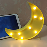Недорогие -1шт LED Night Light Украшение Аккумуляторы AAA Теплый белый