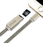 Недорогие -Подсветка Адаптер USB-кабеля Быстрая зарядка Кабель Назначение iPhone 24 cm ПВХ