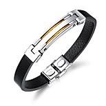 Недорогие -Муж. Браслет цельное кольцо ID браслеты , Cool Мода Кожа В форме линии Бижутерия Повседневные На выход