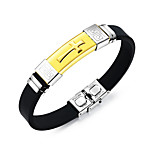 cheap -Men's Bangles ID Bracelets , Fashion Cool Stainless Steel Cross Jewelry Daily Going out