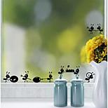 Недорогие -Животные Наклейки Простые наклейки Декоративные наклейки на стены, Винил Украшение дома Наклейка на стену Окно
