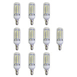 abordables -10pcs 5W 420 lm E12/E14 Bombillas LED de Mazorca 48 leds SMD 5050 Luces LED Blanco AC 220-240V