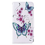 cheap -Case For Huawei Y5 III(Y5 2017) Y5 II / Honor 5 Card Holder Wallet with Stand Flip Magnetic Full Body Butterfly Flower Hard PU Leather for